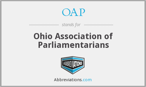 OAP - Ohio Association of Parliamentarians