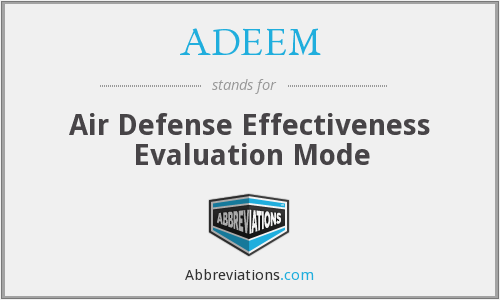 What does ADEEM stand for?