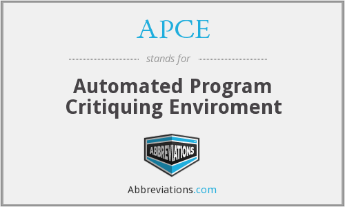 APCE - Automated Program Critiquing Enviroment