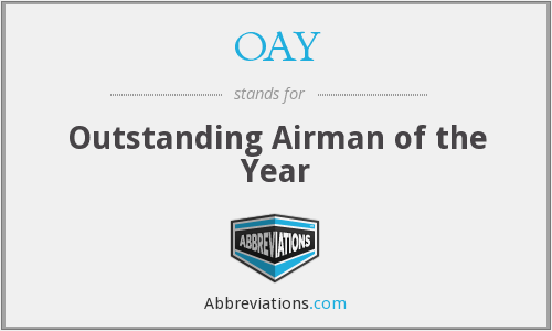 OAY - Outstanding Airman of the Year