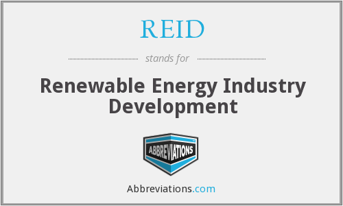 REID - Renewable Energy Industry Development