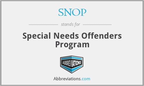 SNOP - Special Needs Offenders Program