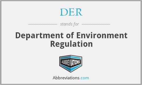 DER - Department of Environment Regulation