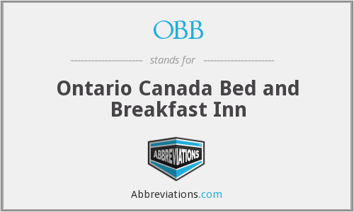 OBB - Ontario Canada Bed and Breakfast Inn