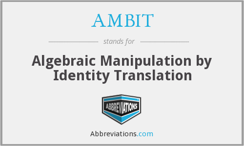 What does AMBIT stand for?