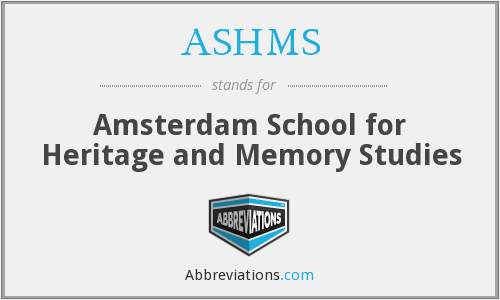 What does ASHMS stand for?