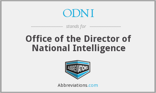 What does ODNI stand for?