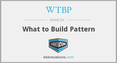 WTBP - What to Build Pattern