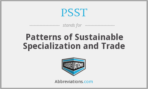 PSST - Patterns of Sustainable Specialization and Trade