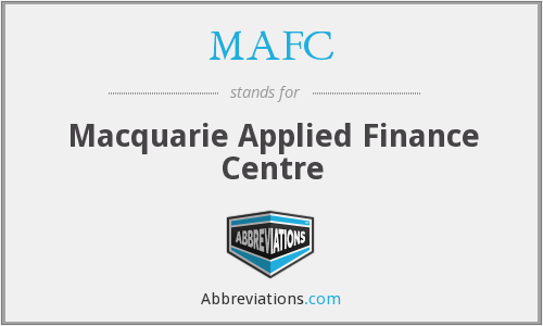 What does MAFC stand for?