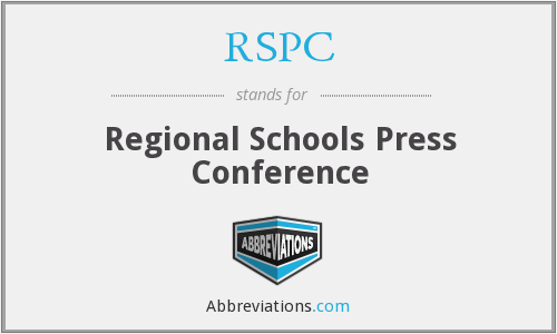 RSPC - Regional Schools Press Conference