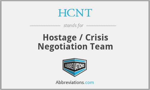 HCNT - Hostage / Crisis Negotiation Team