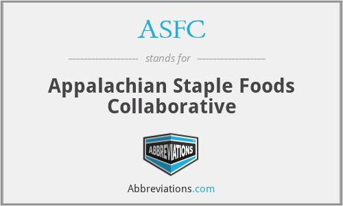 ASFC - Appalachian Staple Foods Collaborative