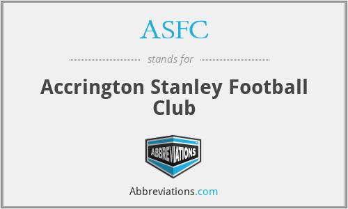 ASFC - Accrington Stanley Football Club