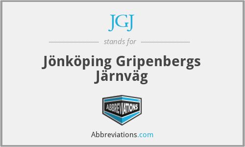 JGJ - Jönköping Gripenbergs Järnväg