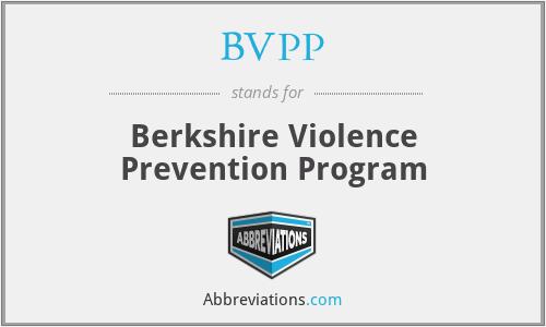 BVPP - Berkshire Violence Prevention Program