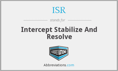 ISR - Intercept Stabilize And Resolve