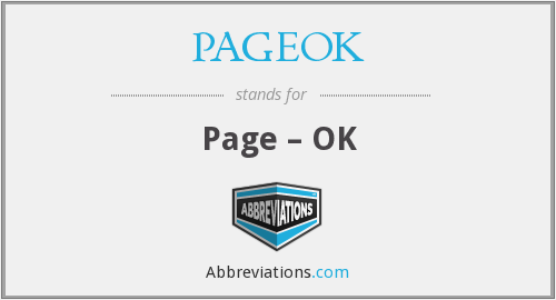 What does PAGEOK stand for?