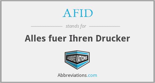 AFID - Alles fuer Ihren Drucker
