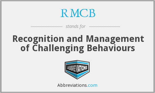 RMCB - Recognition and Management of Challenging Behaviours