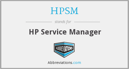 HPSM - HP Service Manager