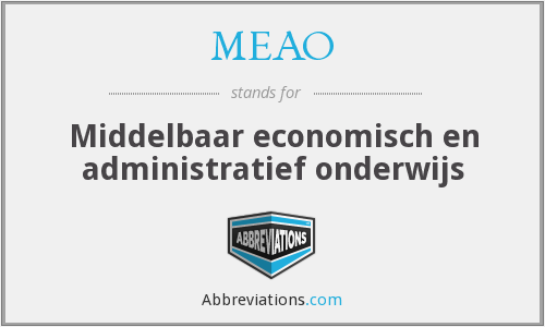 What does MEAO stand for?