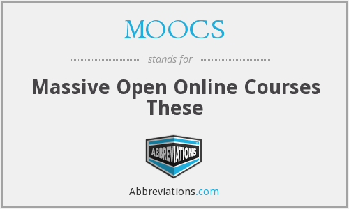 What does MOOCS stand for?