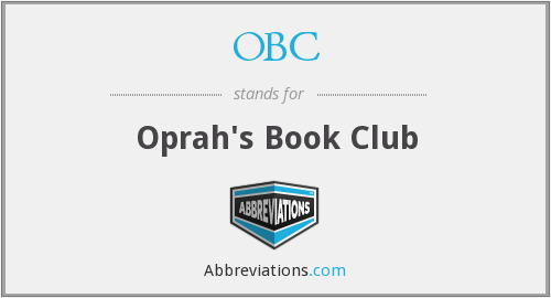 OBC - Oprah's Book Club