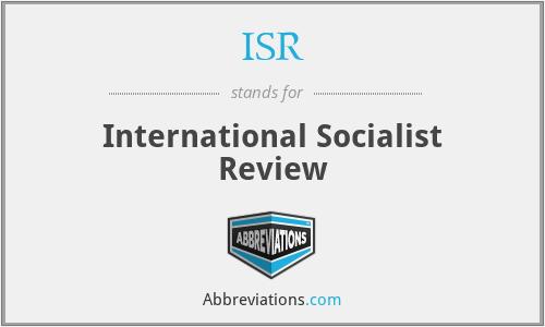 ISR - International Socialist Review