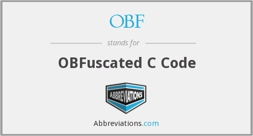OBF - OBFuscated C Code