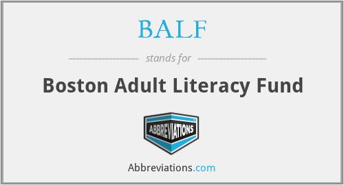 BALF - Boston Adult Literacy Fund