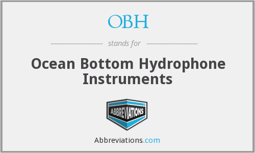 OBH - Ocean Bottom Hydrophone Instruments