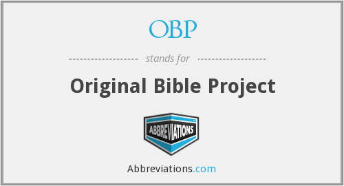 OBP - Original Bible Project