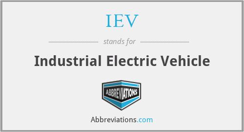 IEV - Industrial Electric Vehicle