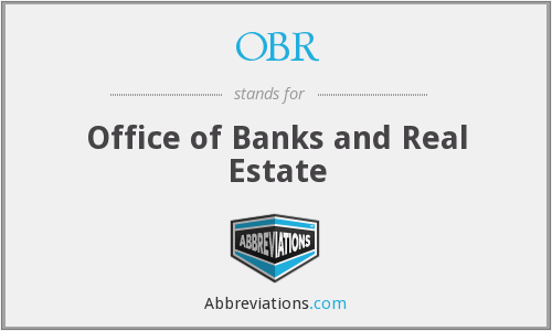OBR - Office of Banks and Real Estate