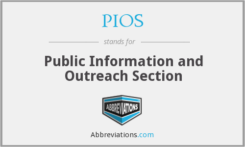 PIOS - Public Information and Outreach Section