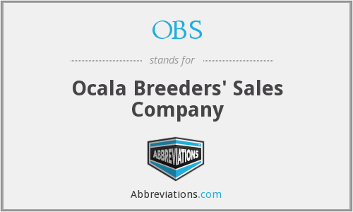 OBS - Ocala Breeders' Sales Company