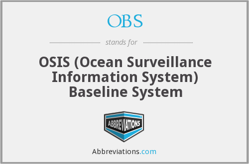 OBS - OSIS (Ocean Surveillance Information System) Baseline System