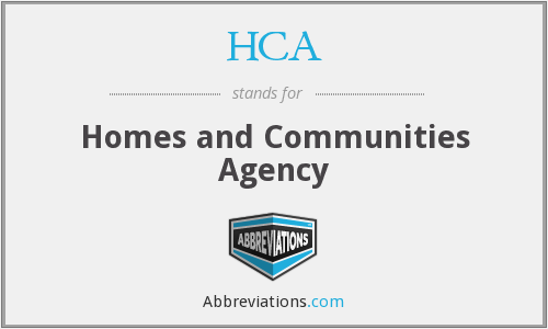 HCA - Homes and Communities Agency