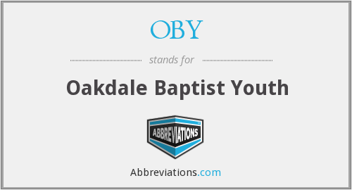 OBY - Oakdale Baptist Youth