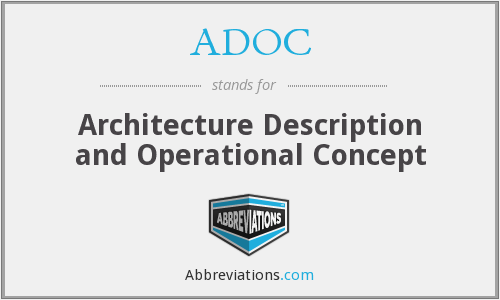 ADOC - Architecture Description and Operational Concept