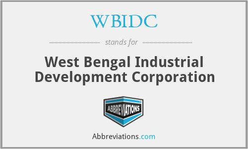 WBIDC - West Bengal Industrial Development Corporation