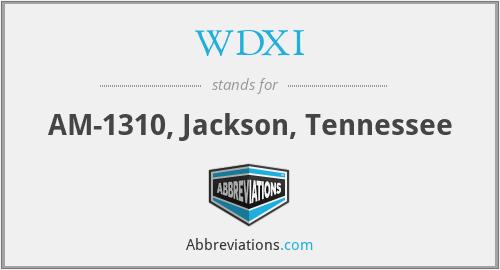WDXI - AM-1310, Jackson, Tennessee