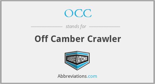 OCC - Off Camber Crawler