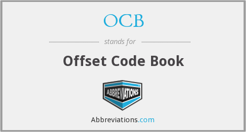 OCB - Offset Code Book