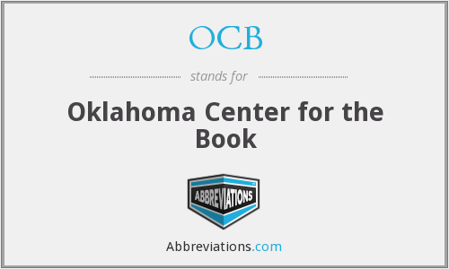 OCB - Oklahoma Center for the Book