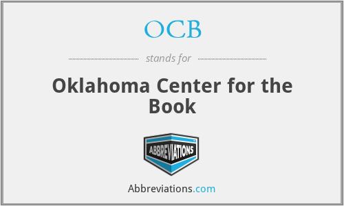 OCB - Oklahoma Center for the Book
