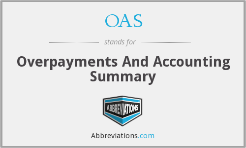 OAS - Overpayments And Accounting Summary