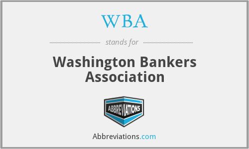 WBA - Washington Bankers Association