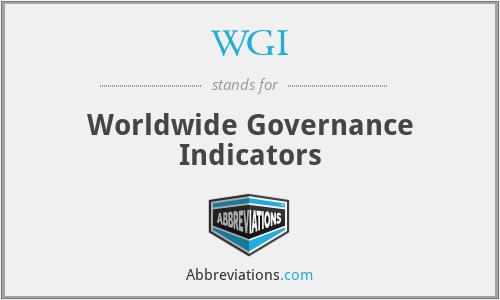 WGI - Worldwide Governance Indicators